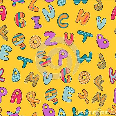 Seamless pattern with alphabet