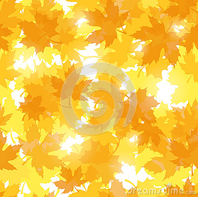 Seamless pattern with autumn maple leaves.