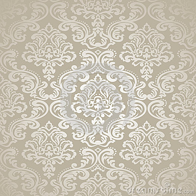Free Seamless Pattern Background.Damask Wallpaper. Stock Image - 36803541
