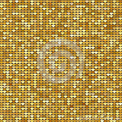 Free Seamless Pattern Background With Gold Glitter Hearts. Vector Illustration. Love Concept. Cute Wallpaper. Good Idea For Your Weddin Stock Photography - 84578832