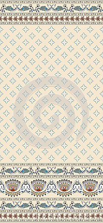 Seamless pattern on a beige background with a wide