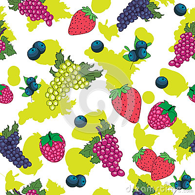 Seamless pattern of berry
