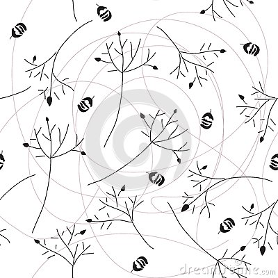 Seamless pattern of branch
