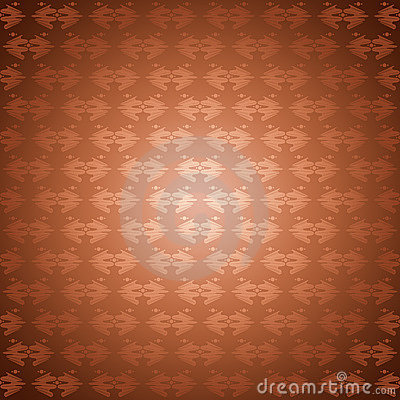 Seamless pattern bronze waves