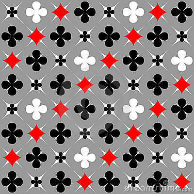 Seamless pattern with card suits motif.