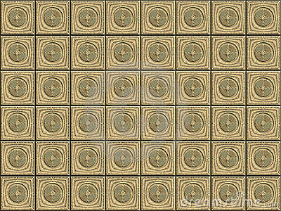 Seamless pattern with carved cubes