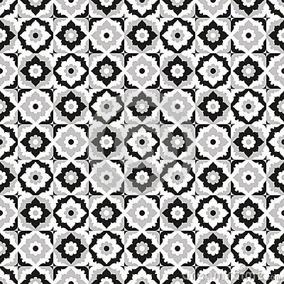 Old Ceramic Tile With Black and white Pattern Stock Photo   Image  53347396. Old Ceramic Tile With Black and white Pattern Stock Photo   Image