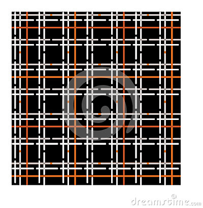 Seamless pattern of checkered fabric