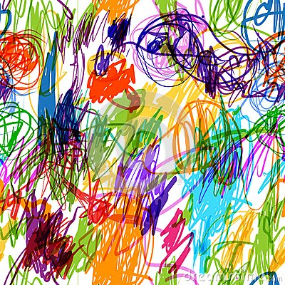 Seamless pattern with childish doodles for your