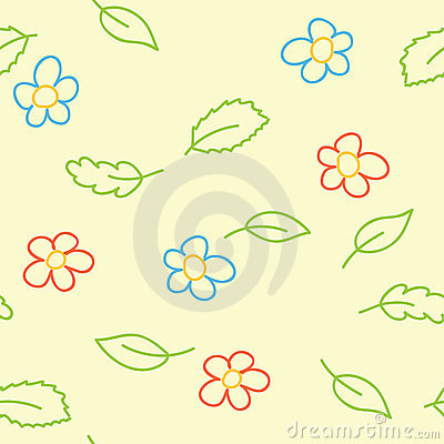 Seamless pattern of childish picture - vector