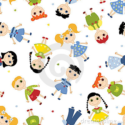 Seamless pattern children.