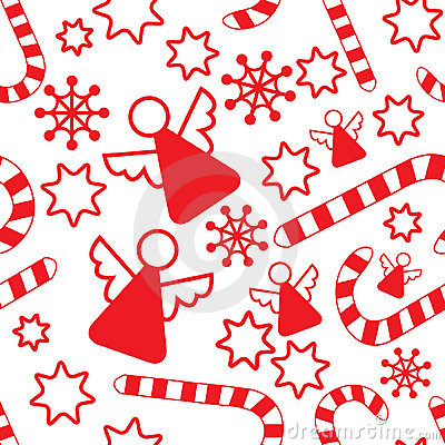Seamless pattern with christmas angels