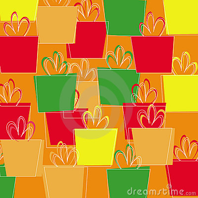 Seamless pattern with Christmas presents vector