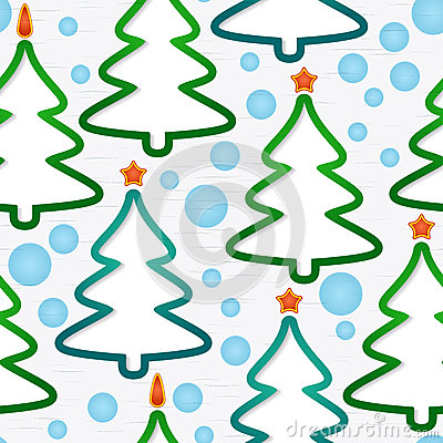 Seamless pattern with christmas-trees