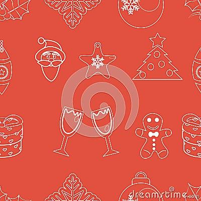 Seamless pattern christmas vector
