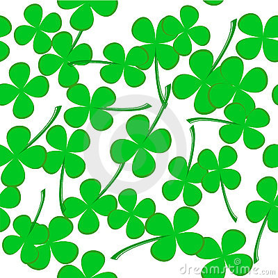 Seamless pattern with clover leaves