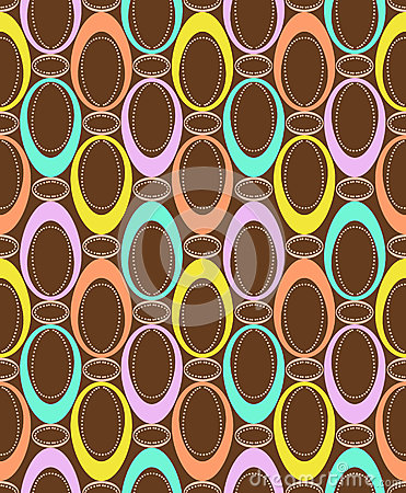 Seamless pattern with color ovals