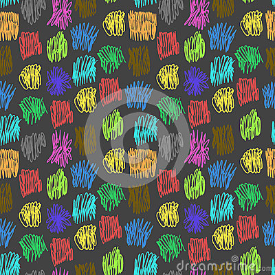 Seamless pattern with color scrawl