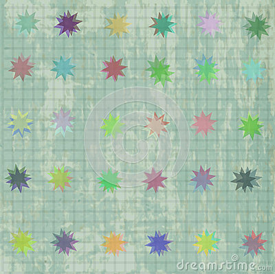 Seamless pattern with colorful texture and stars