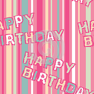 Happy Birthday Seamless Pattern