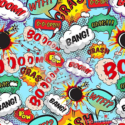 Free Seamless Pattern Comic Speech Bubbles Royalty Free Stock Photography - 38411017
