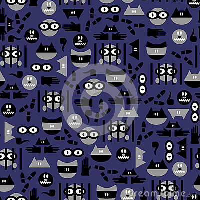 Seamless pattern with criminals