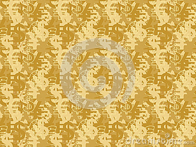 Seamless pattern with currency signs