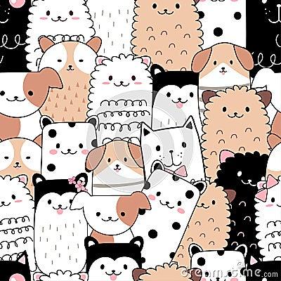 Free Seamless Pattern Cute Animal Cartoon Stock Photo - 129962540