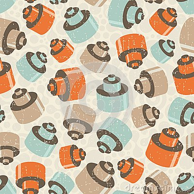 Seamless pattern with details.