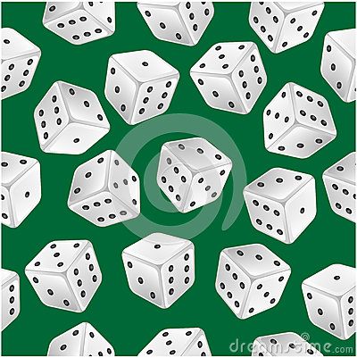 Seamless pattern of dice