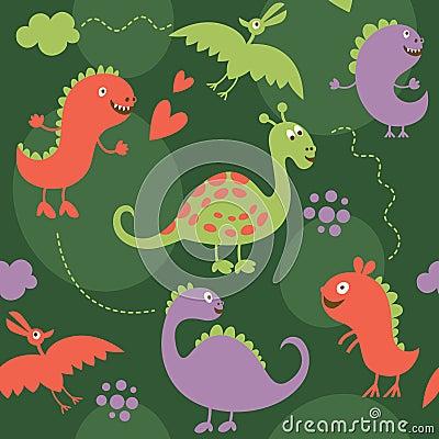 Seamless pattern, dinosaur