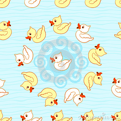 Seamless pattern with ducks