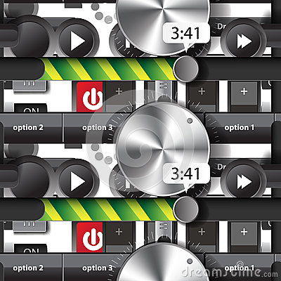 Seamless pattern of the elements of the user audio