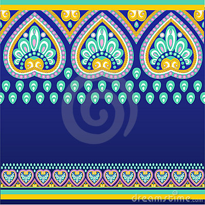 Seamless pattern with ethno motives