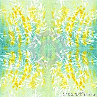 Free Seamless Pattern. Eucalyptus - Medicinal, Perfumery And Cosmetic Plants. Wallpaper. Stock Image - 86662891