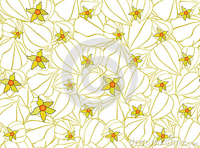 Seamless pattern with floral motif