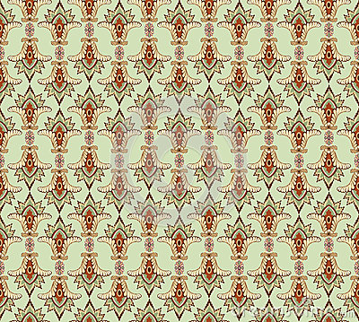 Seamless pattern with floral ornamen
