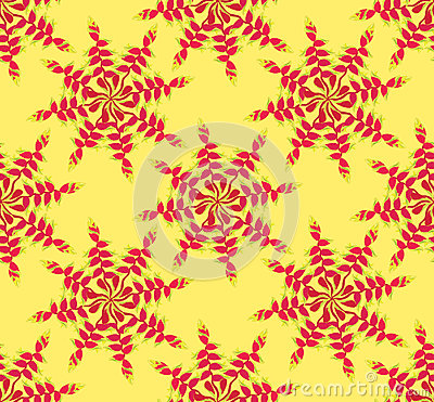 Seamless pattern with floral ornament