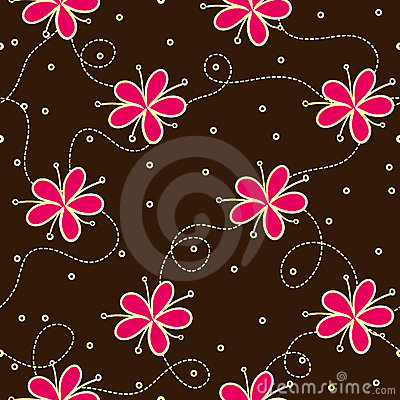 Seamless pattern with flowers