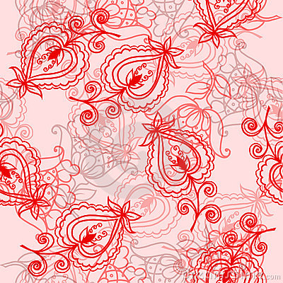 Seamless pattern with folklore flowers Editorial Photography
