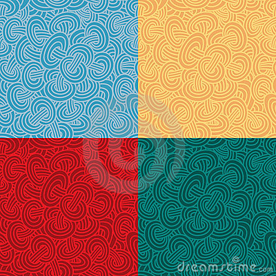 Seamless pattern in four color variations