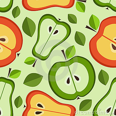 Seamless pattern of fruit