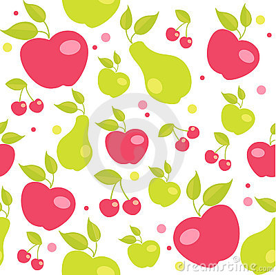 Seamless pattern with fruits Vector Illustration