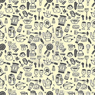 Seamless pattern funny cartoon
