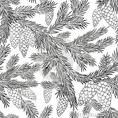 Free Seamless Pattern Fur-tree Stock Image - 45085931