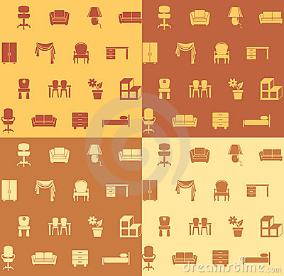 Free Seamless Pattern: Furniture. Royalty Free Stock Image - 6009736