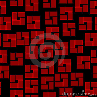 Seamless pattern with geometrical shapes