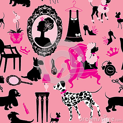 Seamless pattern with glamour accessories