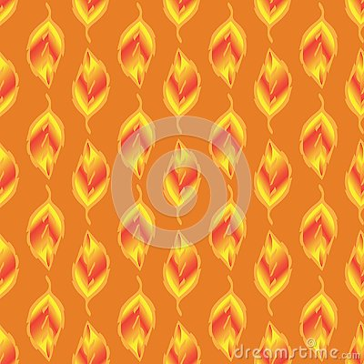 Seamless-pattern-of-gold-leaves Vector Illustration