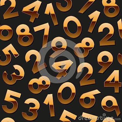 Seamless pattern with golden numbers